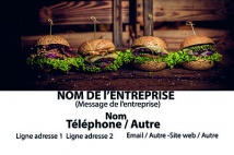 Alimentation et restauration BURGER, Restauration rapide BIO