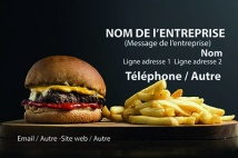 Alimentation et restauration BURGER, Restauration rapide