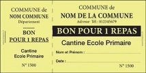 Billetterie - Ticket 2 volets Ticket Cantine jaune