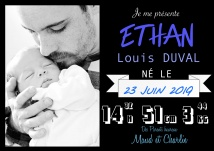 Faire Part de naissance Photo