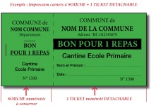 Billetterie - Ticket 1 volet Billetteries : entrée, tombola,cantine...