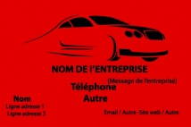 Automobile et Transports Garage rouge noir